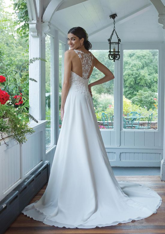 Sweetheart Gowns Style 11048 Lace Bodice Flowing Chiffon Gown