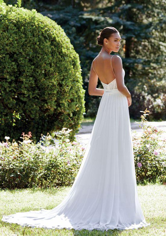 Sincerity Bridal Style 44110 A-Line Chiffon Dress with Chantilly Lace Bodice