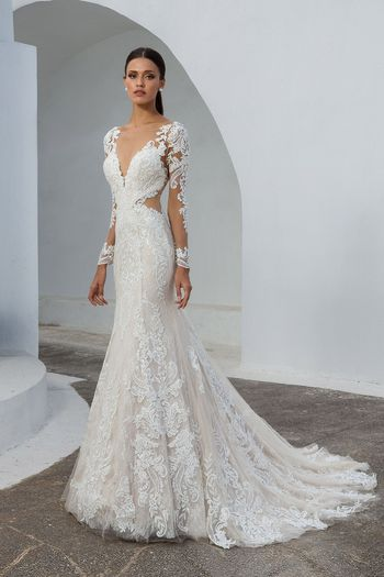 Elegant Long Sleeve Vintage Wedding Dresses