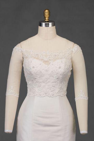 Sincerity Bridal Style 3928J Off the Shoulder Jacket