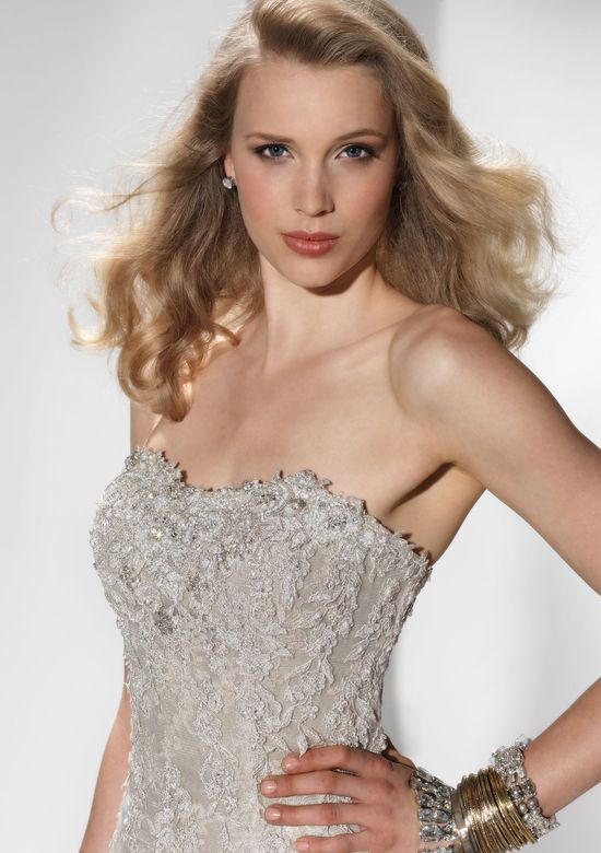 Justin Alexander Signature Style 9690 Beaded lace mermaid dress with a sweetheart neckline