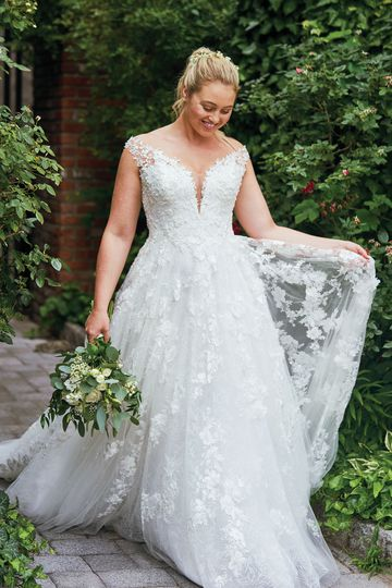 Justin Alexander style 88048 3D Floral Off the Shoulder Gown Iskra Lawrence