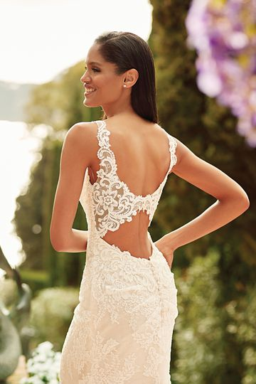Sincerity Bridal Style 44173 Open Back Lace Fit and Flare Gown