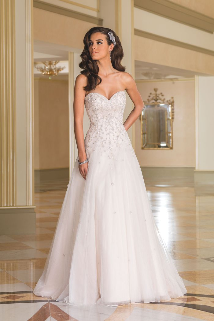 Style 8869 Sparkle Tulle A Line Gown With Sweetheart Neckline Justin Alexander,Vera Wang Wedding Dresses 2019