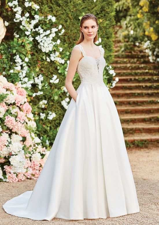 Sincerity Bridal Style 44160 Lace Mikado Ball Gown