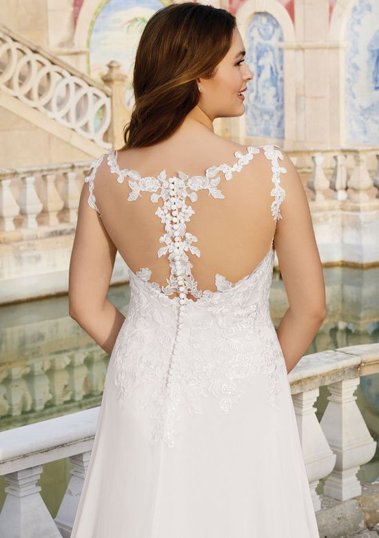 Sincerity Bridal Style 44145 Illusion Sabrina A-Line Gown with Detachable Long Sleeves