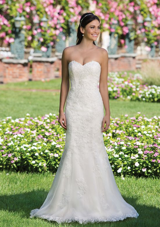 Sincerity Bridal Style 3911 Tulle Fit and Flare Gown with Popover Lace Jacket