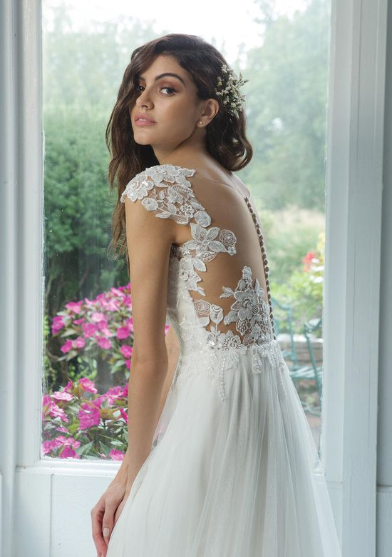 Sweetheart Gowns Style 11081 A-Line Net Skirt with Point d'Espirit and Sequined Lace