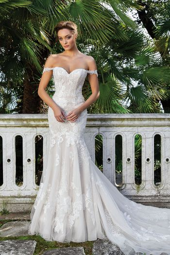 Justin Alexander Style 88123 Sweetheart Neckline Fit and Flare Gown with Straps