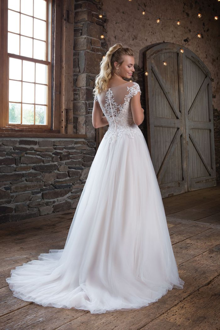 Sweetheart Gowns Style 1119 Tulle Ball Gown with Illusion Sabrina Neckline
