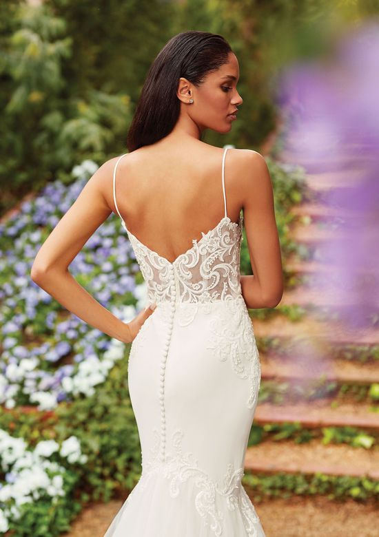 Sincerity Bridal Style 44163 Embroidered Lace Fit and Flare Gown