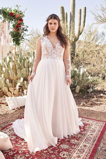 Plus Size Wedding Dress Lillian West