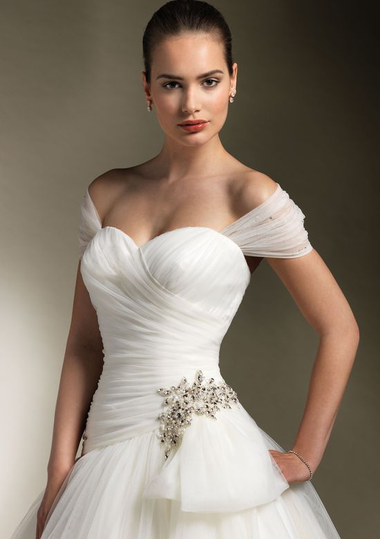 Justin Alexander Style 8610 Tulle ball gown accentuated with a sweetheart neckline