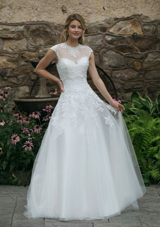 Sincerity style 44050 Allover Lace Sweetheart A-Line Gown with Jacket