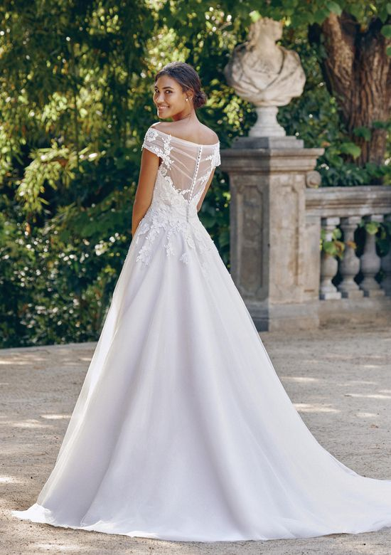 Sincerity Bridal Style 44132 Off the Shoulder Ball Gown with Embroidered Lace