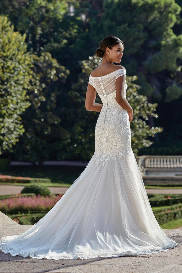 Sincerity Bridal Style 44148 Beaded Lace and Tulle Mermaid Gown