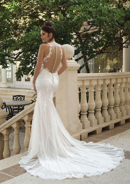 Sincerity Bridal Style 44093 Fit and Flare Gown with Lace Appliques