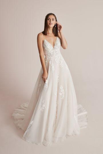 Justin Alexander Style 88225 Cleo English Net A-Line Wedding Dress with Beaded Spaghetti Straps