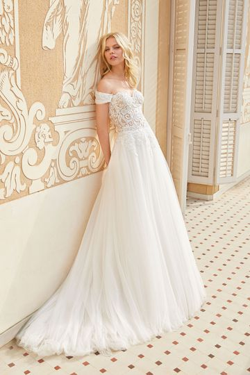 Sincerity Bridal Style 44076 Lace Ball Gown with Ruched Detachable Shawl