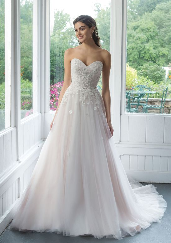 Sweetheart style 11094 Tulle Ball Gown with Beaded Venice Lace Appliques