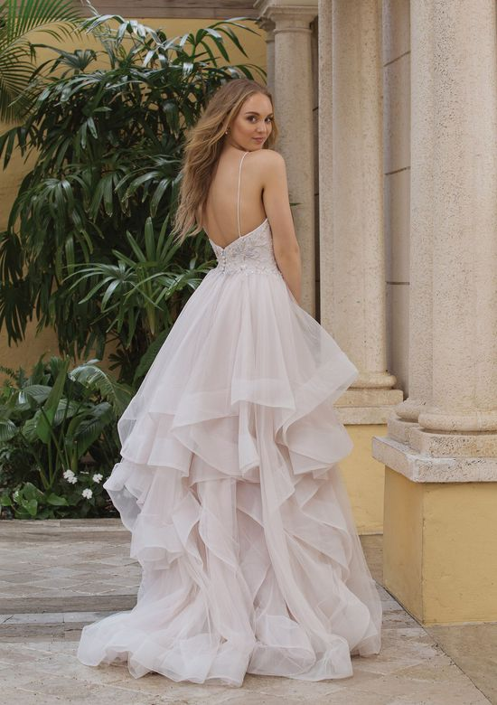 Sincerity style 44104 Spaghetti Strap Ruffle Skirt Ball Gown with Horsehair
