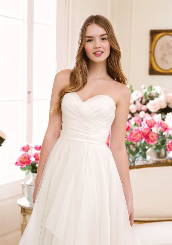 Sweetheart Gowns Style 11073 Strapless Sweetheart Gowns Style  Asymmetric Pleated Organza A-line Gown