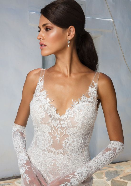 Justin Alexander Style 8961G Organza and Lace Gloves