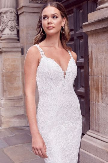 Adore by Justin Alexander Style 11186 Rena Corded Allover Lace Fit and Flare Wedding Dress