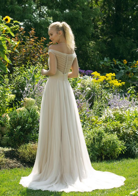 Sweetheart Gowns Style 11029 Illusion Ruched Bodice Gown with Natural Waist