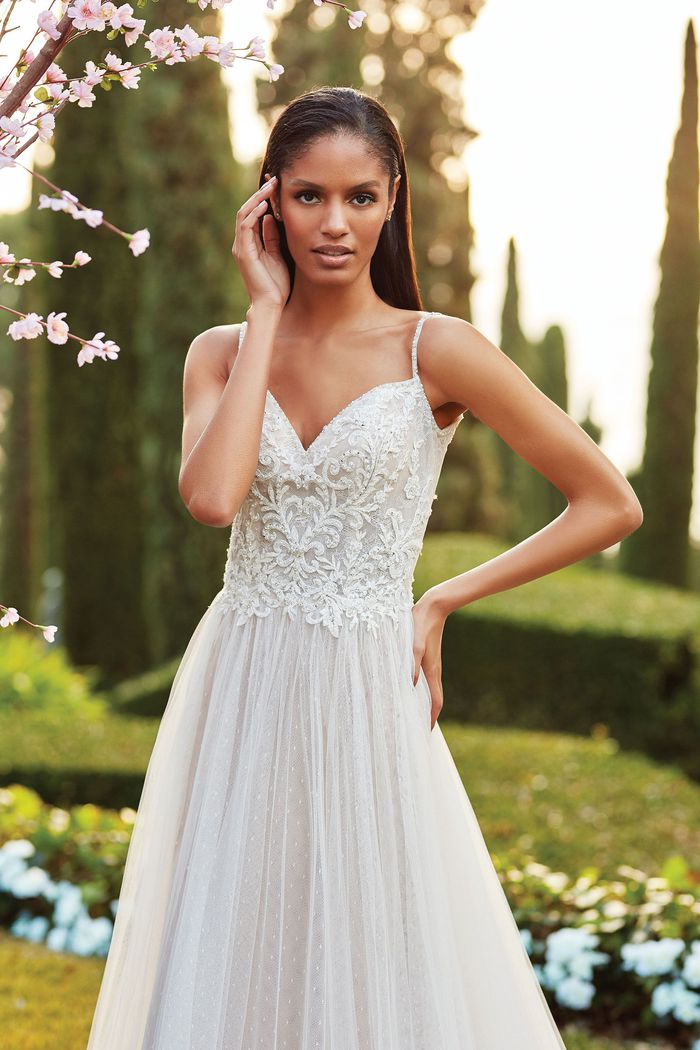 Sincerity Bridal Style 44179 Beaded Lace and Point D'Esprit A-Line Gown