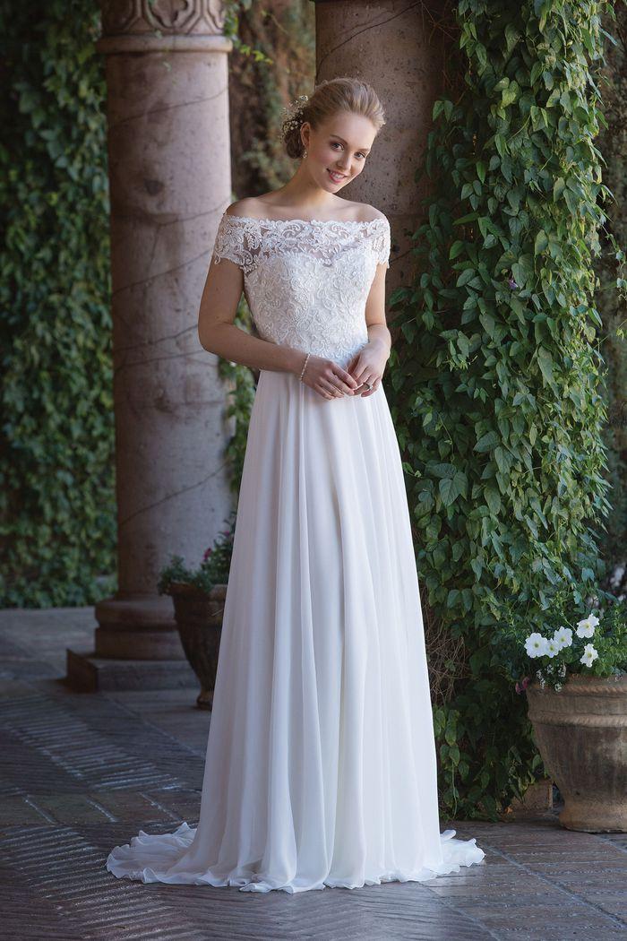 Sincerity Bridal Style 4003J Off the Shoulder Allover Lace Jacket