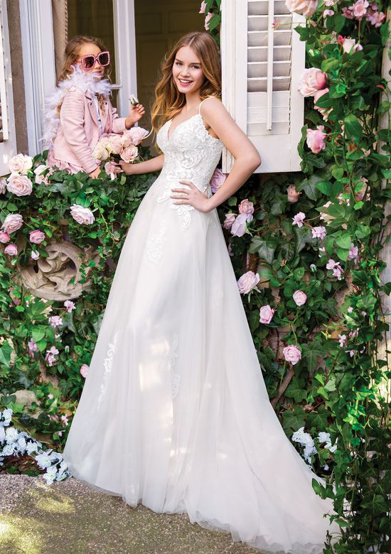 Sweetheart Gowns Style 11084 Illusion A-Line Tulle Gown with Lace Appliques