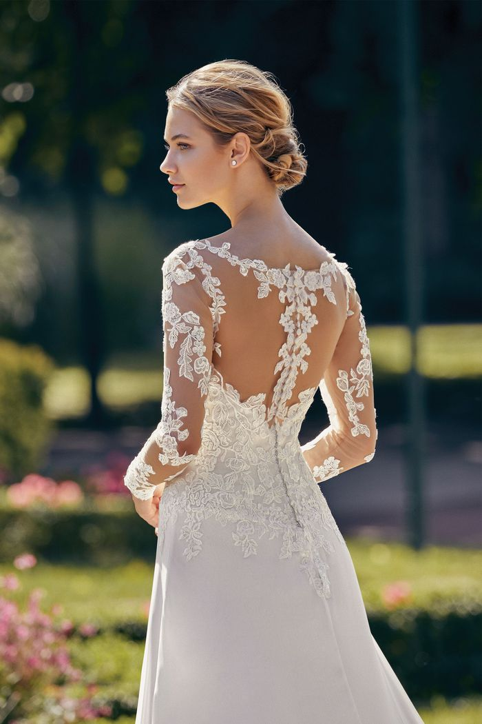 Sincerity style 44145SL Detachable Tulle and Lace Long Sleeves