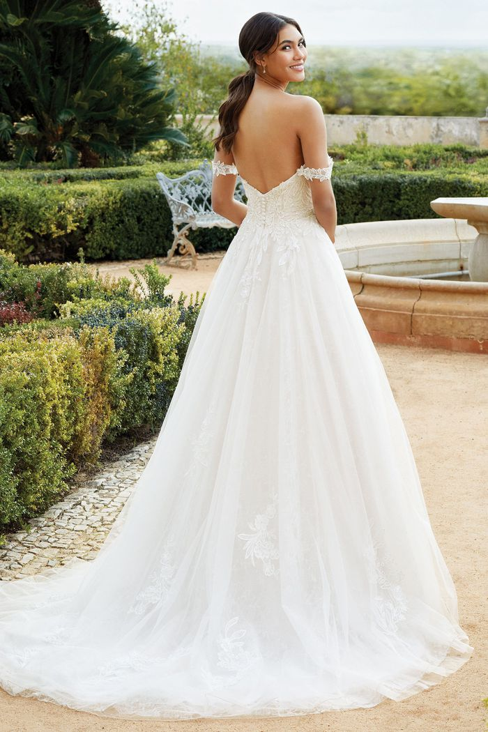 Sincerity Bridal Style 44250 Sequined Sweetheart Neckline Ball Gown with Detachable Straps