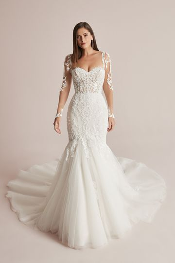 Justin Alexander Style 88222SL Cain Sleeves Detachable Long Sleeves with Beaded Appliqués