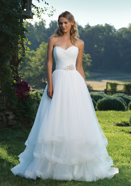 Sincerity Bridal Style 3890 Ruched Tulle Ball Gown with Sweetheart Neckline