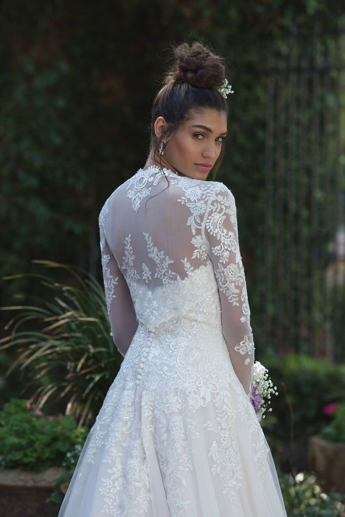 Sincerity Bridal Style 4019 Beaded and Embroidered Lace Ball Gown with Bolero Jacket