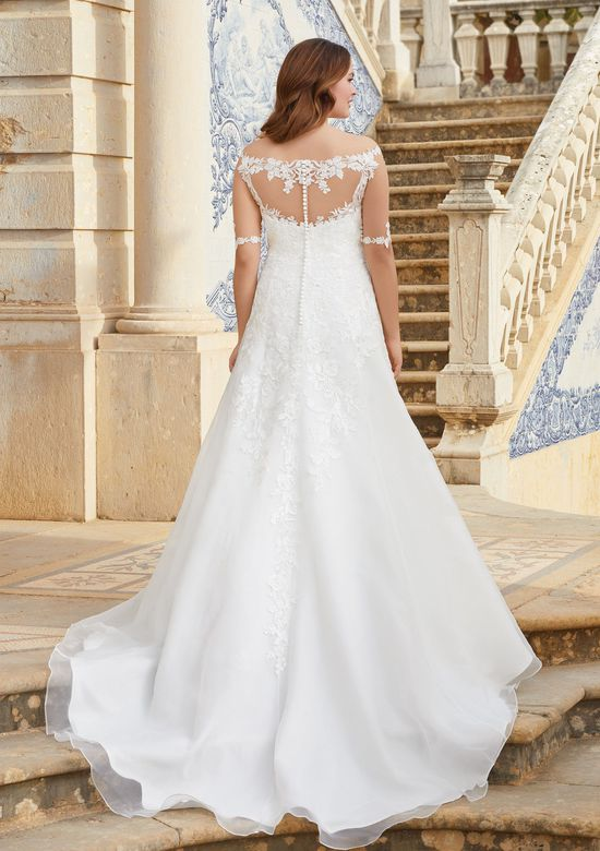 Sincerity Bridal Style 44058 Off the Shoulder Lace Illusion A-Line Gown
