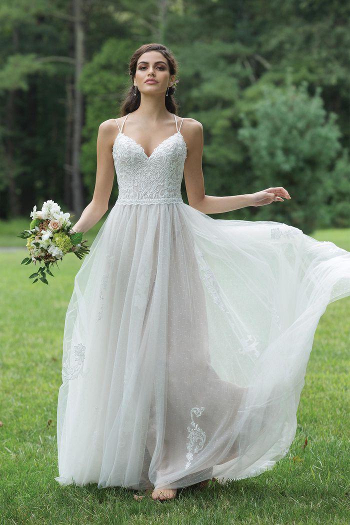 Sweetheart Gowns Style 11092 Bikini Neckline Light English Net Dress