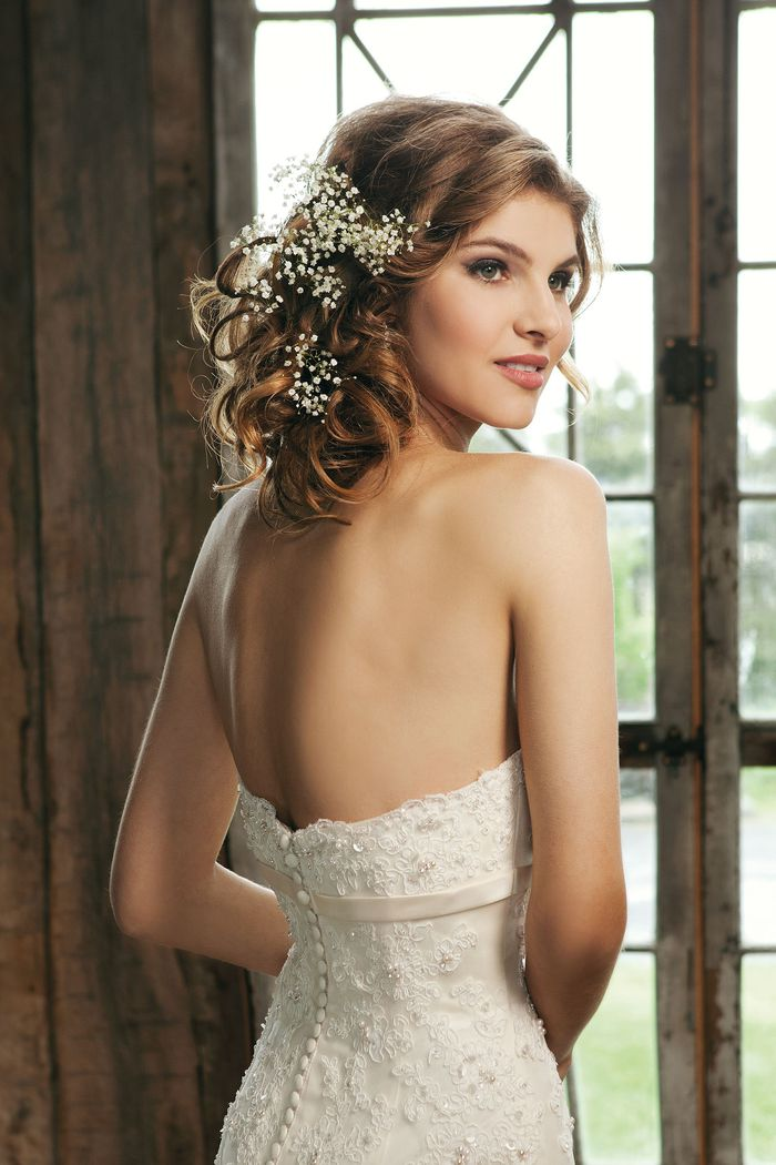 Sincerity Bridal Style 3664 Strapless beaded lace trumpet dress