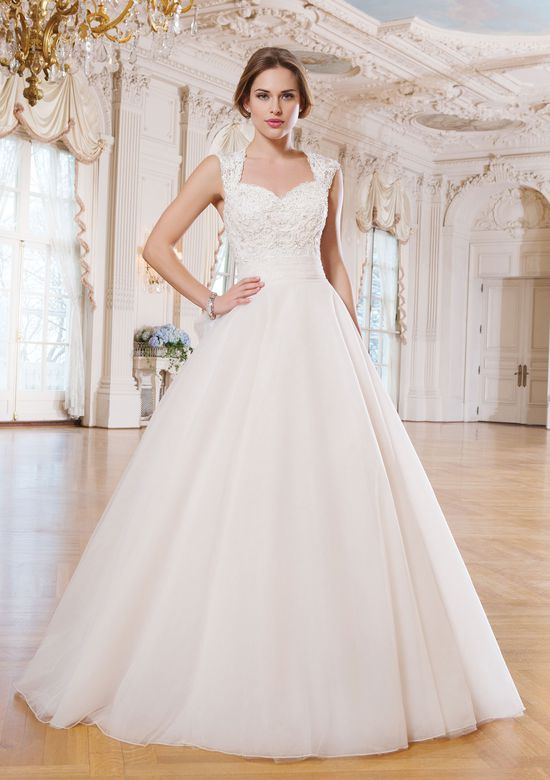 Lillian West Style 6360 Tulle and Lace Ball Gown with Keyhole Back