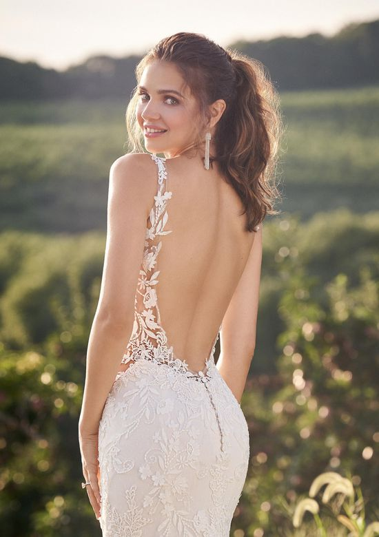 Lillian West Style 66143 Sabrina Neck Gown with Low Back and Illusion Side Cutouts