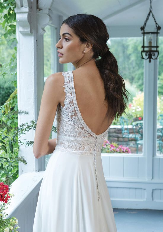 Sweetheart Gowns Style 11047 V-Neck A-Line Dress with Full Chiffon Skirt
