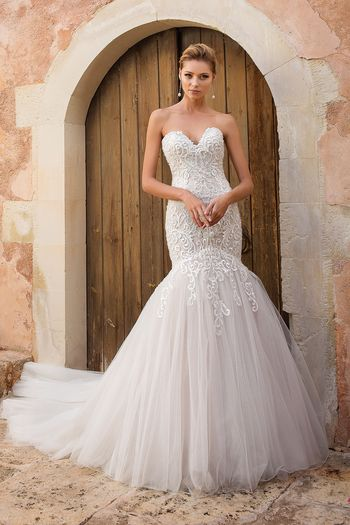 Justin Alexander style 88051 Dropped Waist Trumpet Gown