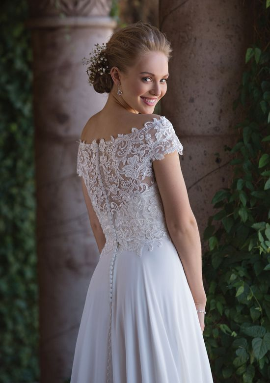 Sincerity Bridal Style 4003J Off the Shoulder Allover Lace Jacket