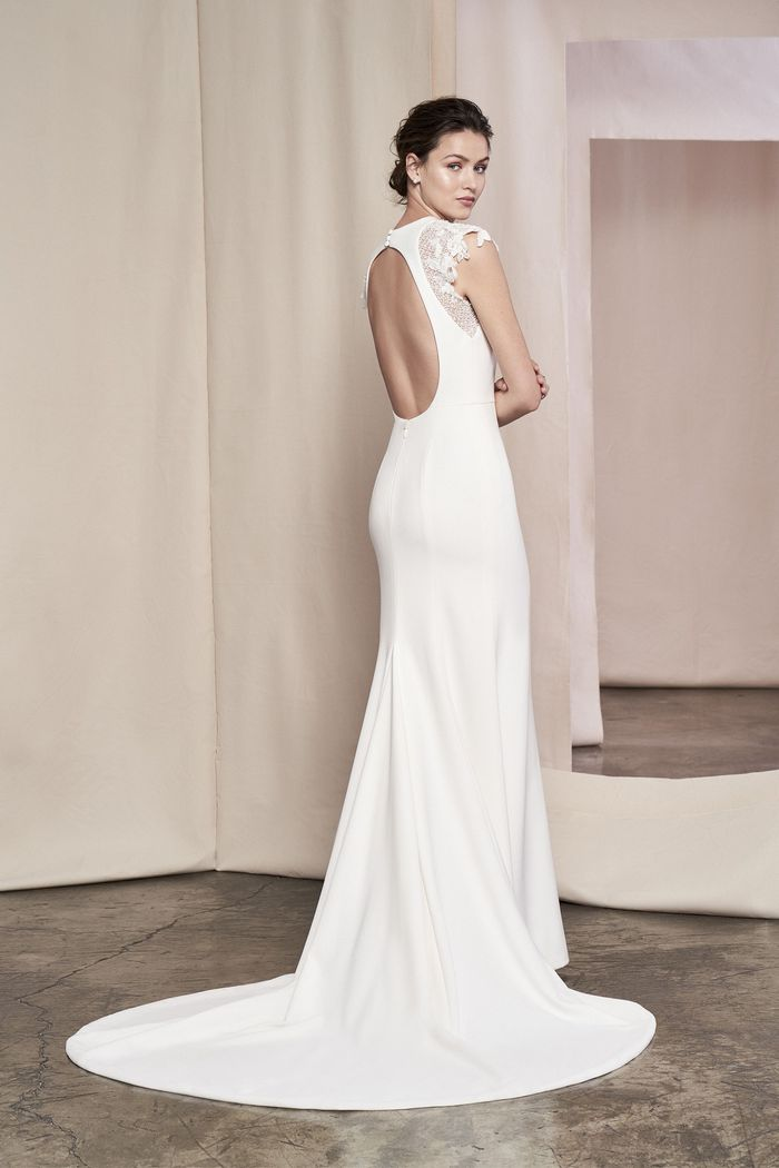 Justin Alexander Signature Style 99104 Daphne Beaded Cap Sleeve Gown with Cut Out