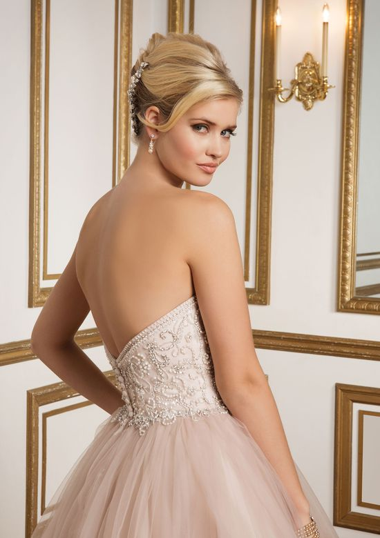 Justin Alexander Style 8847 Beaded Bodice and Tiered Tulle Skirt Bridal Gown