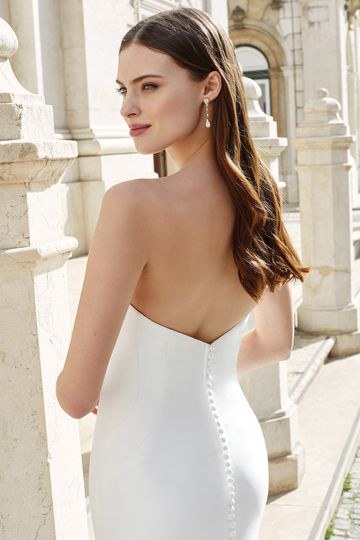 Adore by Justin Alexander Style 11150 Strapless Mikado Fit and Flare Dress with Sweetheart Neckline