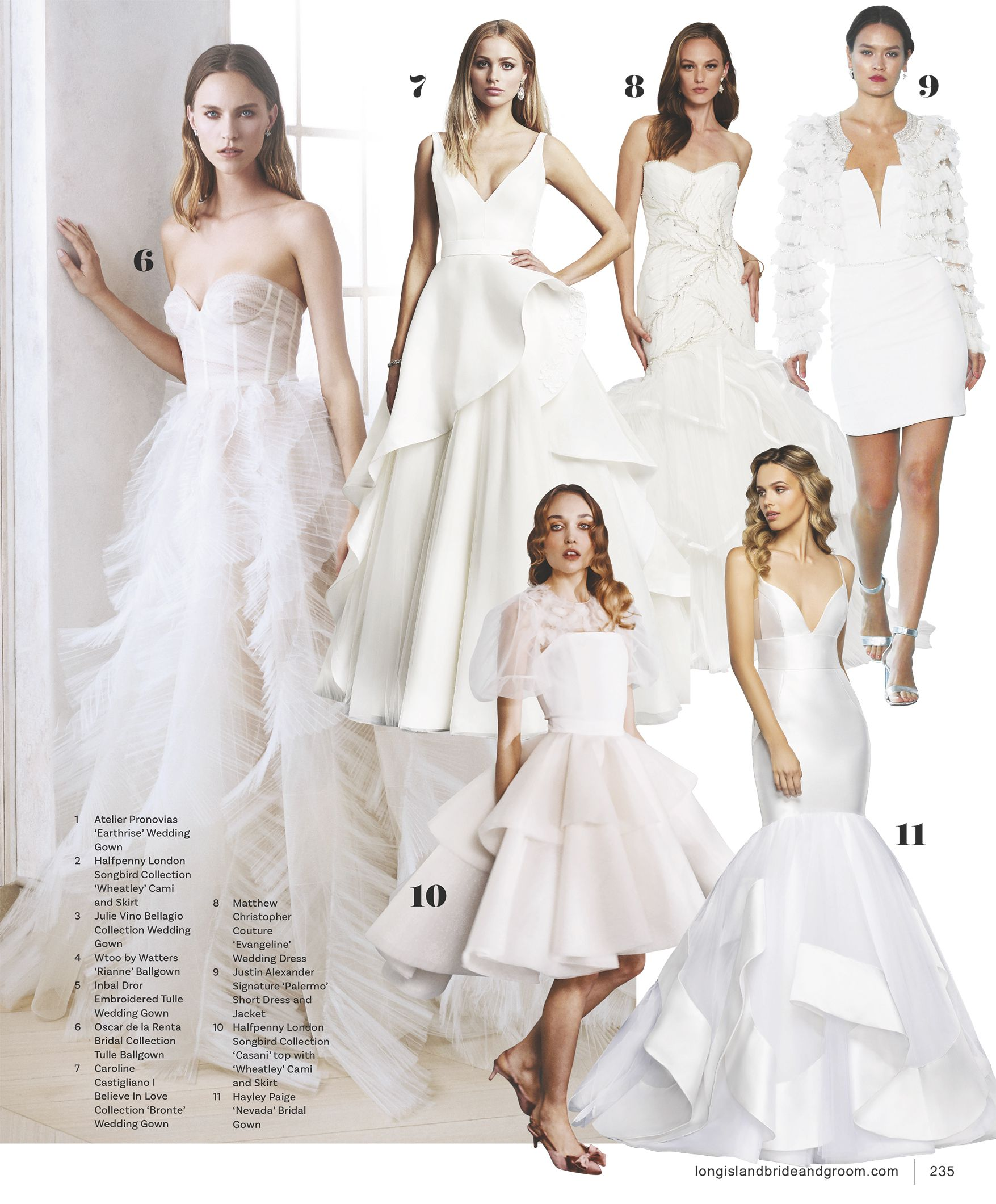Justin Alexander Signature Style Palermo featured in Long Island Bride & Groom