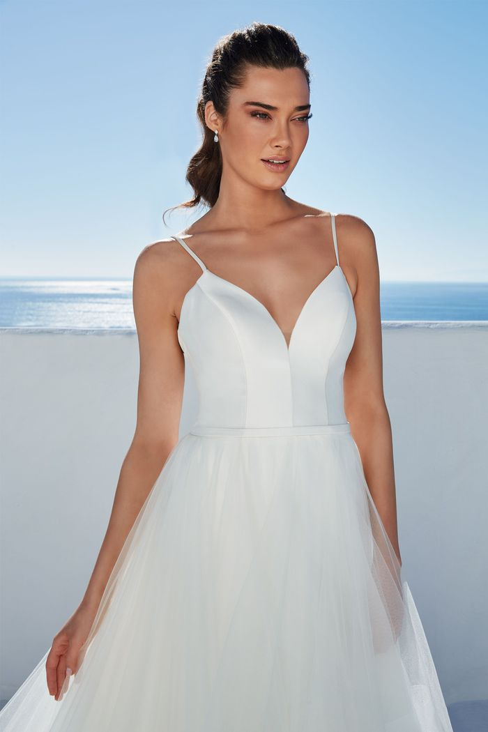 Justin Alexander Style 88169N Bowie Bikini Neckline Ball Gown with Tiered Tulle Skirt